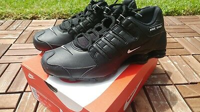 NEW NIKE MEN S Shox NZ EU Running Shoes (501524-091) Black  White ... bf8356734