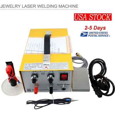 Pulse Sparkle Spot Welder Electric Jewelry Welding Machine Gold Silver 110V/220V