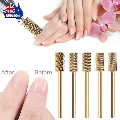 Golden Manicure Nail Drill Bits Coated For Nail Acrylic Gel Remove Cuticle Clean