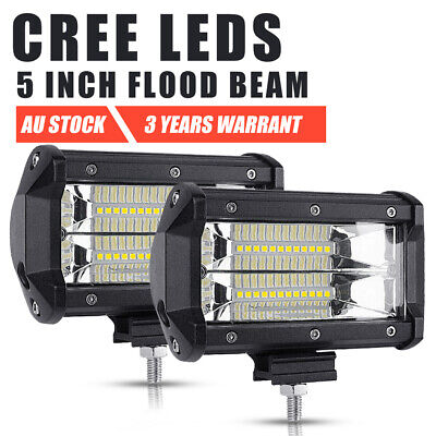 Pair 5inch 280W CREE LED Spot Work Light Bar Offroad Driving 4WD Reverse Truck