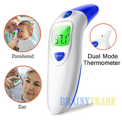 Digital Medical Infrared Forehead Ear Non contact Thermometer Baby Clinical