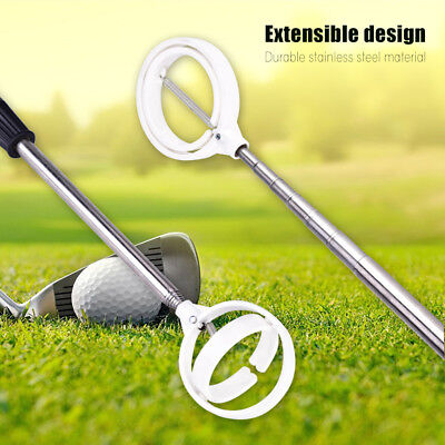 Practical 8 Sections Golf Picker Telescopic Ball Pick-up Tool Retriever Scoop GL