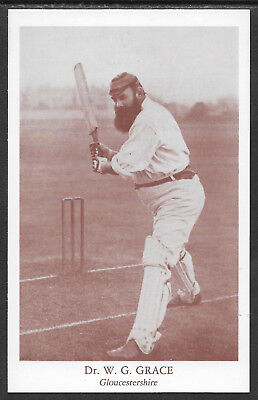 Dr W G GRACE (Gloucestershire) County Print Services CRICKET POSTCARD