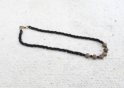 1950's VINTAGE OLD TRIBAL SILVER NECKLACE IN BEADS- 7.40 Grams