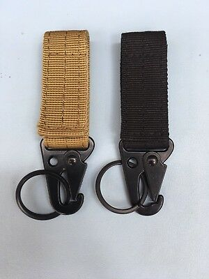 Nylon Carabiner, Tactical Gear, Key Hook, Clip, Hanging, Molle, Hiking, Belt