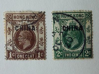 409]  Hong Kong - China Overprint  -  1917 - 1921 F/used