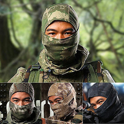 Tactical Camouflage Outdoor Full Face Mask Scarf Balaclava Hat Camo Windproof