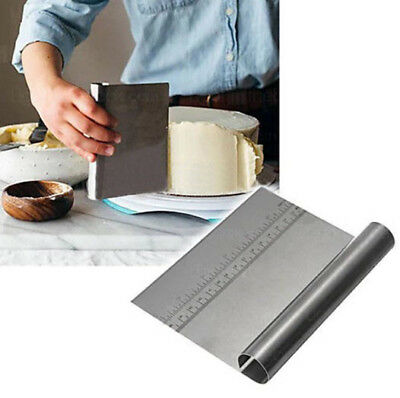 Stainless Steel Smoother Edge Cake Scraper Kitchen Pastry Cake Baking Tool