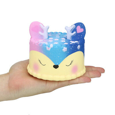 JUMPO GALAXY SQUISHY Deer Cake Super Soft Slow Rising Pressure Relief Toy