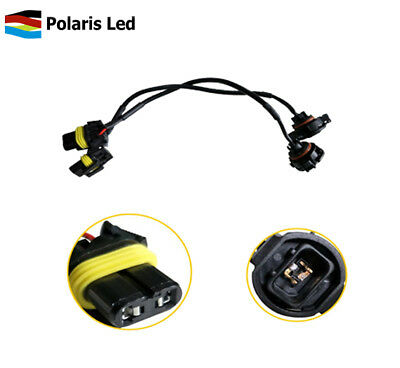 9005/9006 to 5202/2504/H16 Conversion Adapter Wires For JEEP 6045 6145