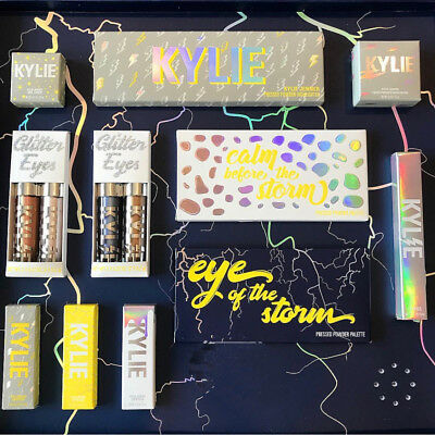 Calm Before And Eye Of The Storm Highlighter Yellow Eyeliner Eyeshadow Palette