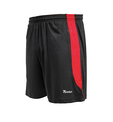 2 x Precision Real Football Shorts - Colour Black/Anfield Red Size 42-44