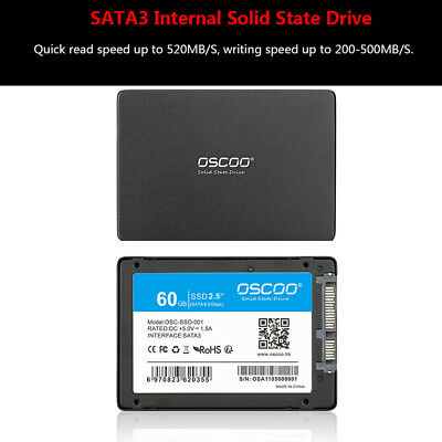 "OSCOO SATAIII 6 Gb/s 2,5 ""/7mm 60G Interne Solid State Drive SATA3 SSD C4Y3"