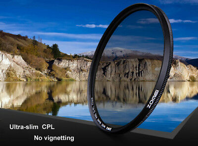 ZOMEI 49/52/58/62/67/72/77/82mm Slim CPL Circular Polarizer Filter Optical Glass