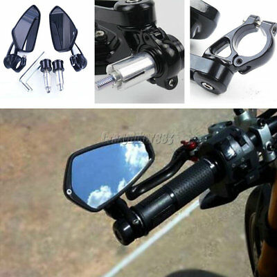"7/8"" Rearview Handle Bar End Mirrors For Ducati Monster 620 696 750 796 900 1000"