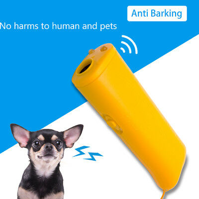 Harmless Anti-Barking Pet Dog Ultrasonic Stop Training Repeller Trainer