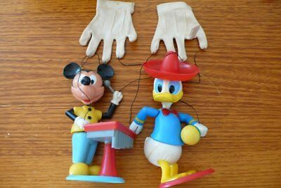 Collectable Vintage  Walt Disney Mickey Mouse And Donald Duck Hand Puppet
