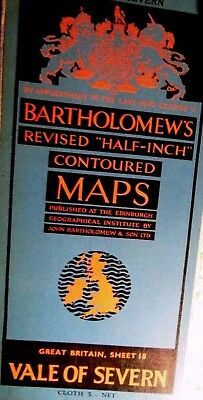 Shropshire Welsh Marches To Birmingham-1953- Vintage Bartholomew Topographic Map