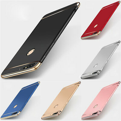For Huawei Y9 Y7 Prime Y6 Pro 2018 Slim Case Luxury Electroplate Hard Back Cover