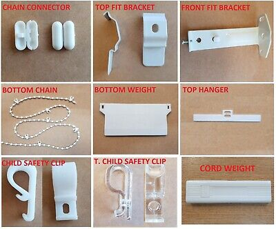Vertical Blind Spare Parts for 89mm & 127mm Weights, Chains, Brackets, Hangers