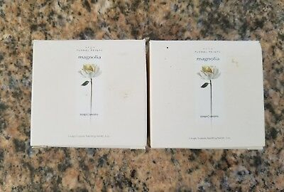 Avon Floral Prints Magnolia Soaps, Lot Of 2 New In Box, Discontinuted 2004.