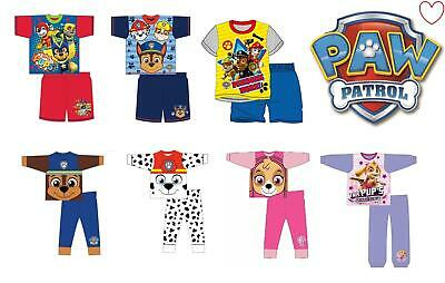 Paw patrol pyjama sets boys girls pj nightwear sleepwear
