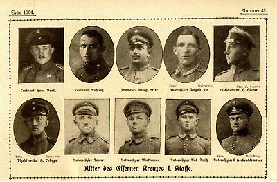 WW I Knights of the Iron Cross  German Hero Public Notice from: 1918.22