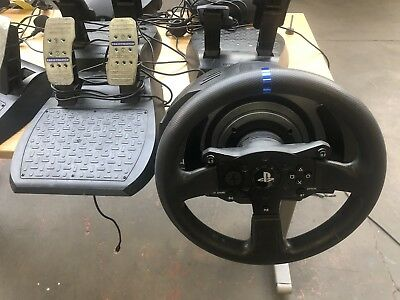 THRUSTMASTER T300 RS Racing wheel and pedals used condition no power cable