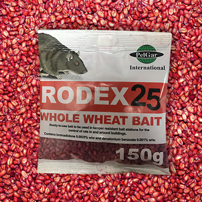 150g Sachet RODEX Whole Wheat Professional Grade Rat & Mouse Bait Poison