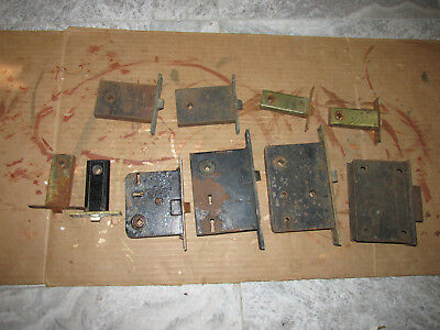 Lot Of Antique Mortise Door Locks And Latches Salvaged AS IS