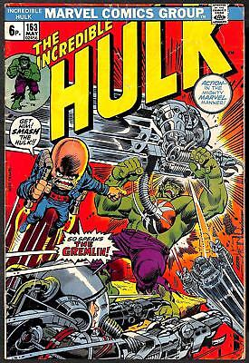 Incredible Hulk #163 VG 1st App Gremlin