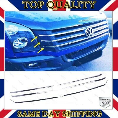 VW Crafter Front Grill Chrome Trim Cover 2012-2017 Stainless Steel 6 pcs