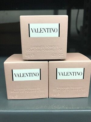 Valentino Women By Valentino Lot Of Three 0.21 Oz Shimmer Powder With Puff