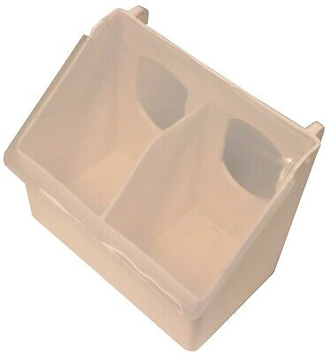 Rite Farm Products Washable Poly Quail Pigeon Bird Feeder 2 Hole Outside Filling