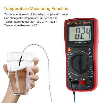 ANENG AN881B+ Digital LCD Multimeter NCV Temperature Tester AC DC Voltage Meter