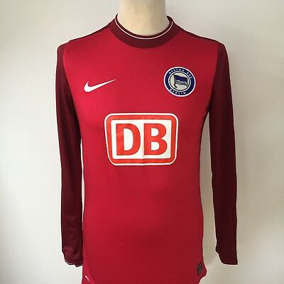 HERTHA BERLIN Football Training Shirt NIKE Size SMALL Long Sleeve