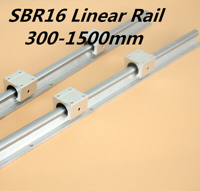 SBR16 16mm Linear Guide Rail L300-1500mm & SBR16UU Shaft Rod Set