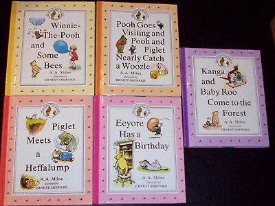 BP (1990) 5 Books ~ Chapter's from The Original Pooh Treasury by A. A. Milne