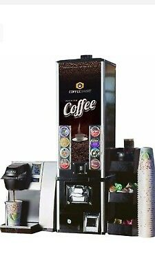 K-cup vending machine, Commercial K145 Keurig, coffee station organizer