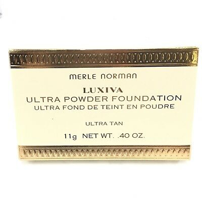 NEW Merle Norman Luxiva Ultra Powder Foundation Ultra Cafe Compact .40 oz M1