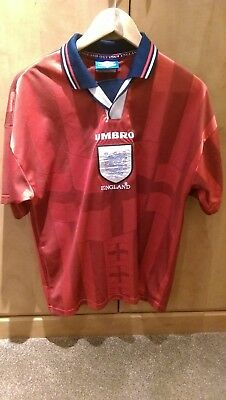 RETRO ENGLAND 1998 World Cup Finals Away Shirt (Red) - £26.01 ... 57bf18e6b