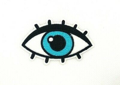 583850ca1a3f3 EYE EYEBALL TATTOO Biker Embroidered Applique Sequins Iron On Patch Badge  188