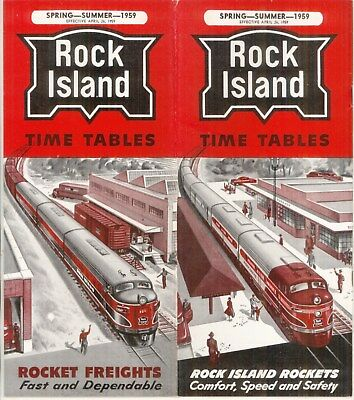 Chicago, Rock Island & Pacific RR, system passenger time table:  April 26, 1959
