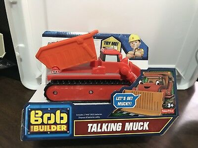 Fisher Price Bob the Builder Talking Muck Over 20 Sounds & Phrases NEW