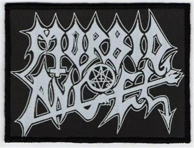 Official Licensed - Morbid Angel - Black & White Logo Sew-On Patch Death Metal
