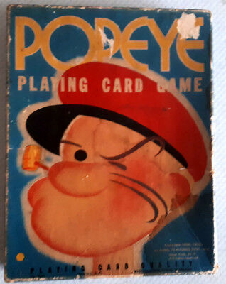 Vintage POPEYE Playing Card Game with Original Box 1950s