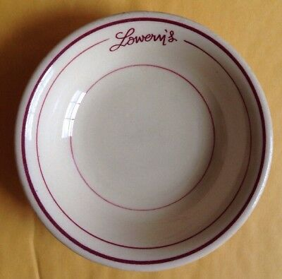 1950 Lowery's Seafood Restaurant Ware Bowl, Carr China Glo-Tan, Tappahannock, Va
