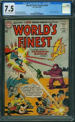 Worlds Finest Comics #134 CGC 7.5 Great Sheldon Moldoff Cover