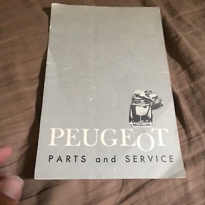 1962 Peugeot 403 USA Market Parts & Service Locations Brochure Prospekt
