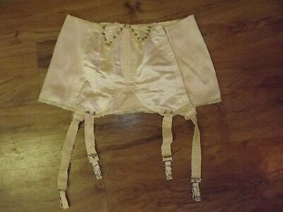 Vintage MODART Garter Belt with Stocking Straps 1950's Peach with Lace
